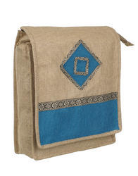 Husamsons Shoulder Bag jute jhola side bags, Capacity: 14 L, Size/Dimension: 13.5w X 15.5l X 5 Depth Inches
