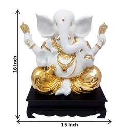 Gold Plated Lord Ganesha Statue Corporate Gift Item