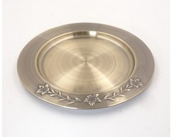 Carved Brass Antique Charger Plate