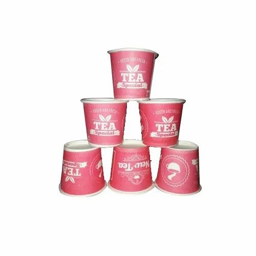 Red Food Grade Paper Printed Tea Paper Cup, Capacity: 55 Ml, Use: Hot Beverages