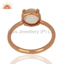 Rose Gold Plated 925 Silver Gemstone Ring