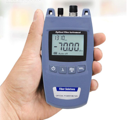 FTTH Fiber Optic Power Meter with FC universal connector WITH VFl Laser power meter optic tester