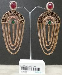 Designer Chain Jhumka Earrings