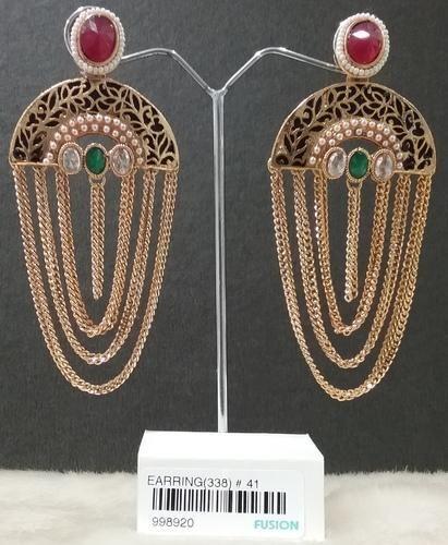 Festival Girls Designer Chain Jhumka Earrings Rs 205 Pair Id