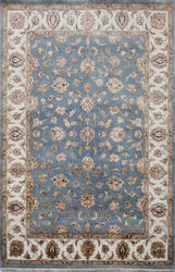 Light Blue Hand Made Wool & Silk Rugs