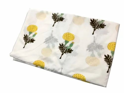 Vinayak Handicraft Print Natural Color Flower Print Indian Soft Cotton Fabric