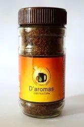 D'aromas 100% Pure Coffee 100gm Bottle, Non prescription