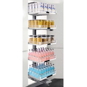 Stainless Steel Space Pantry Unit, Size: 500mm To 600mm (1720-2020mm)