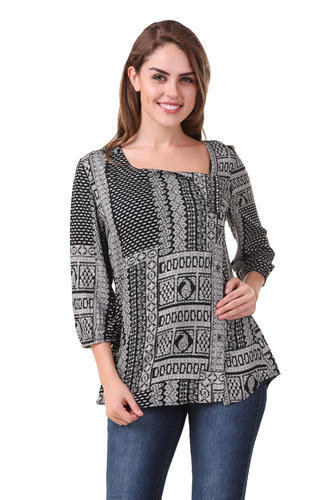22775147fb6b Mind The Gap Black Women Multi Color 3/4th Sleeve Top, Rs 999 /piece ...