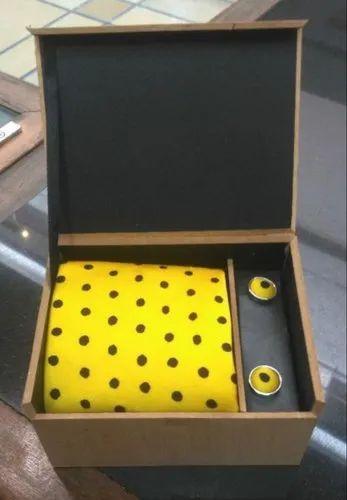 Brown MDF Neck Tie Packaging Box
