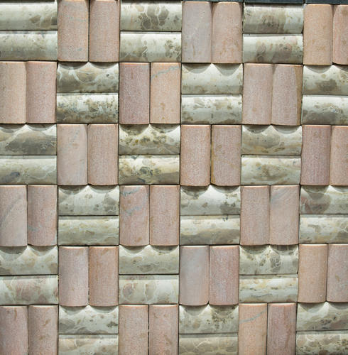 Double Moulding Marble Mosaic, Size (Square Feet): 300 X300mm