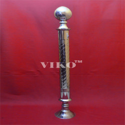 Stainless Steel  Single Rajwadi  Railing Pillar
