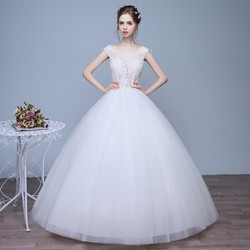 Christian Wedding Gown Catholic Gown White Wedding Frock Hs580
