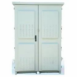 RAL 7035 Svarn IP 55 Floor Type Battery Telecom Cabinet