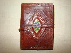 Binding Leather Journal with Stone
