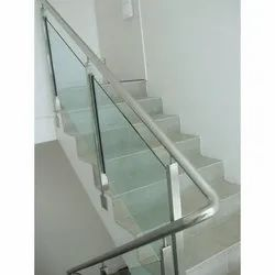 Stainless Steel Glass Stair Railing