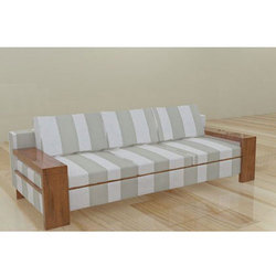 Wooden Brown Modern Designer Sofa