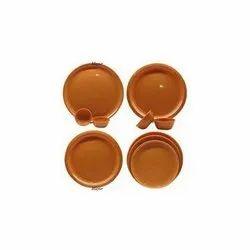 Round Brown Bowls
