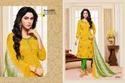Round Neck Printed Salwar Suit Fabric