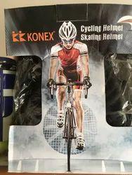 Black/Red Light Cycling Helmet