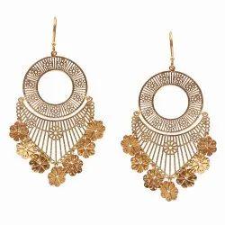 Silver earrings Long earrings Silver geometric earrings Flashy earrings Mobile earrings with a chain Rhomb earrings