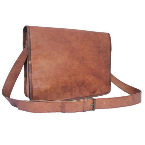 Brown Mens Office Leather Side Bag e63c932e9f6e