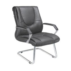 Black Leather Director Chair