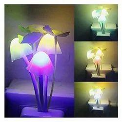 Plastic LED Night Light Mushroom Lamp