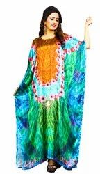 Indian Floral Printed Casual Wear Free Size Kaftan For Women