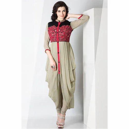 Women Georgette Indo Western Suit 58a94aa7b