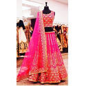 Georgette Embroidered Wedding Lehenga