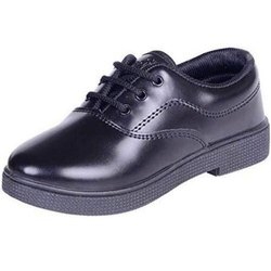 Shyamjee Men Boys Plain School Shoes, Size: 3-7 Number