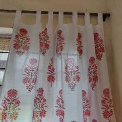 Cotton Hand Block Printed Jaipuri Curtains