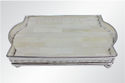 Rectangular Silver Plated Mother Of Pearl Brass Tray Small, Size: 8.5 X 5 Inches