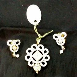 White Party Artificial Pandle Earrings Set