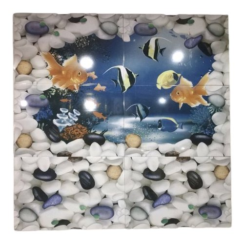 Ceramic Gloss Bathroom Wall Tiles, Size: Medium (6 inch x ...