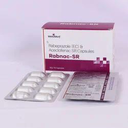 Rabeprazole 20 mg   Aceclofenac 200 mg (SR) Capsule