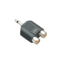 EP Stereo To 2 RCA Sockets Adaptor