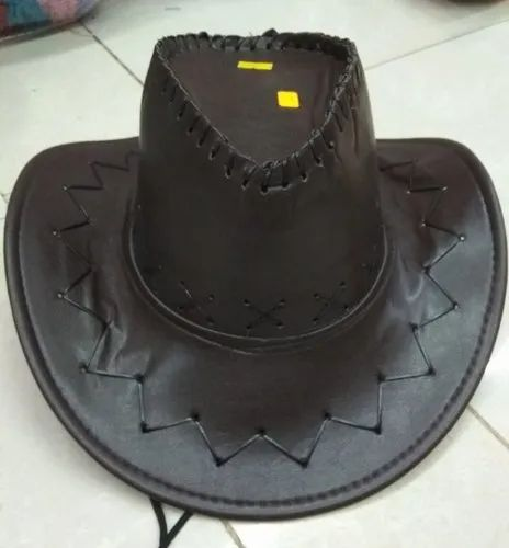 3e3c07f1f46 Leather Black Adult Cow Boys Hats