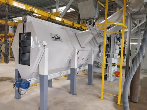 Conveyorized Spinner Hanger shot blasting machine
