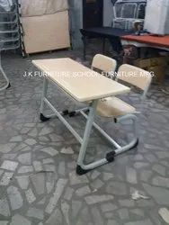 Steel Wooden School Desk