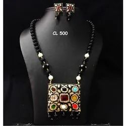 CL Code Jaipuri Meenakari Navratan Imitation Jewellery Traditional Indian Jewellery Necklace