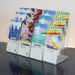 12 Pocket Acrylic Magazine Stand