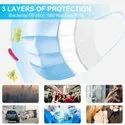 Disposable 3 Ply Filter Breathable Safety Mask with Elastic Ear Loop (100 Pcs)