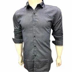 Mens Long Sleeve Casual Printed Shirt, Size: M, L & XL