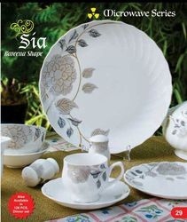Golden Flower Printed Tea Set