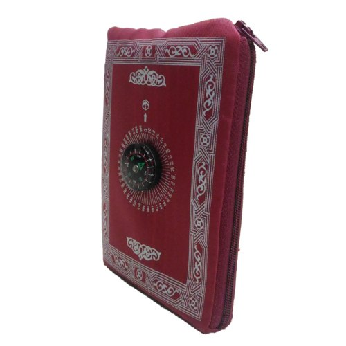 Red Clarastar Portable Pocket Prayer Mat, Size: 110cm x 70cm, Packaging Type: Packet