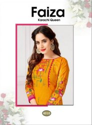 Nafisa Cotton Faiza Karachi Queen Vol-4 Printed Cotton Dress Material Catalog