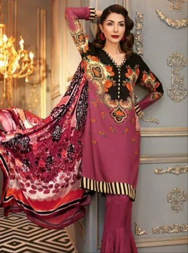c3c6831f40 Gul Ahmed Silk Velvet Collection at Rs 3650 /piece | Ladies Wear ...
