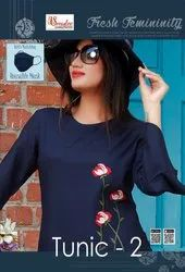 Tunics Vol 2  Rayon With Manual Work Fancy Short Top